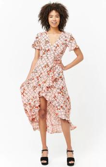 floral grid dress forever21 £26