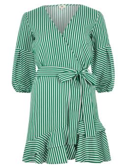 Green stripe frill hem tie waist dress £46 river island