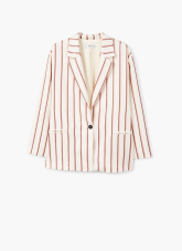 Striped unstructured blazer mango £69.99