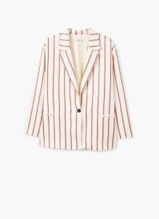 Striped unstructured blazer mango £69.99